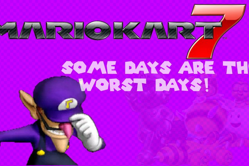 Waluigi Mario Kart 7 Background ...