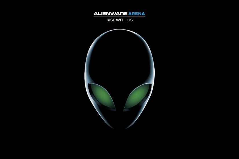 Alien with green eyes, black background