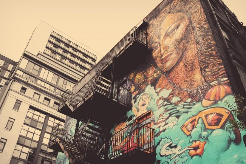 Graffiti on the building picture for desktop and wallpaper - Wallpapers and  backgrounds. Tattoos ...
