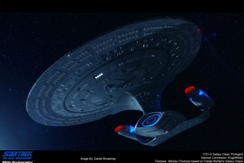 A 3D render I did in honor of Star Trek TNG 25th Anniversary ...