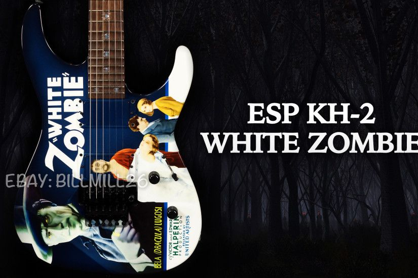 ESP KH-2 White Zombie Kirk Hammett Custom Shop Guitar