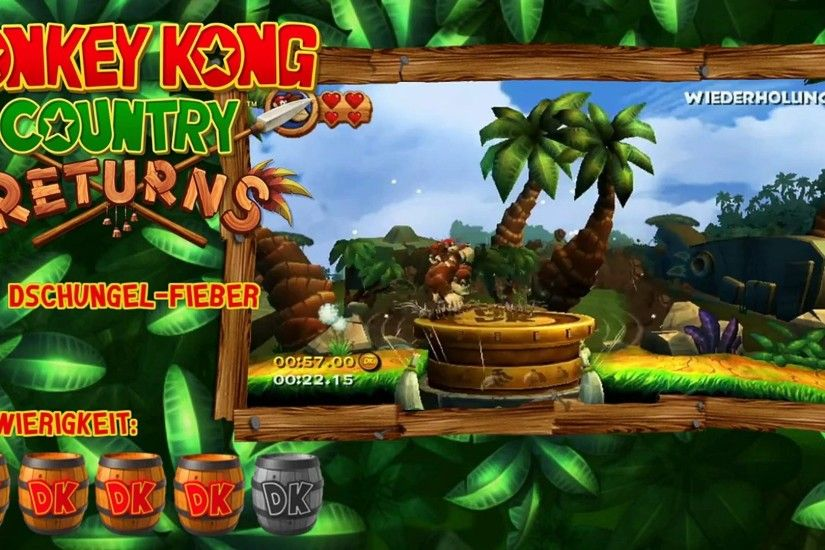 Donkey Kong Country Returns | Spiel auf Zeit | 1-1 Dschungel-Fieber |  00:52:67 - Dailymotion Video