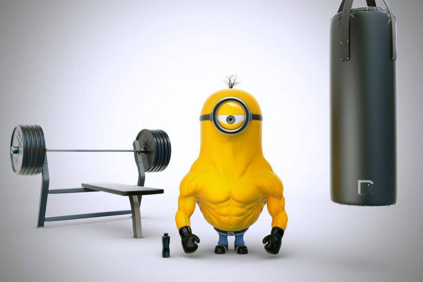 Muscle Minion, Bodybuilding wallpaper