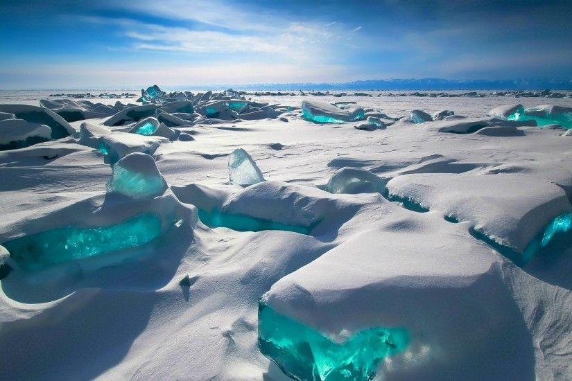 north pole, ice blocks, ice, snow, winter