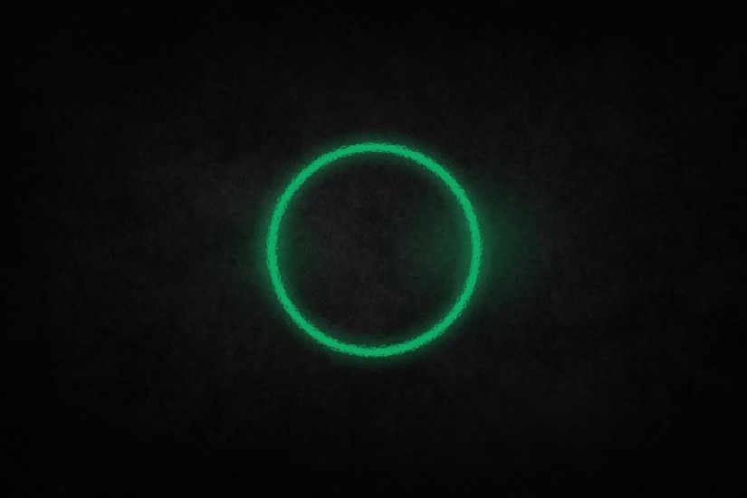 Green Circle of Light Behind Glass - Cool Wallpapers for desktop Background