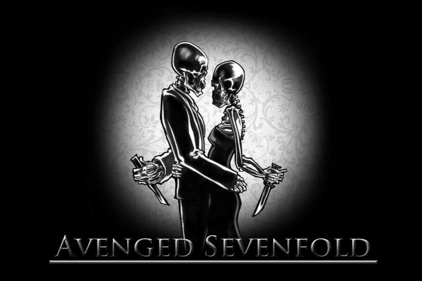 Avenged Sevenfold heavy metal rock dark skulls #1