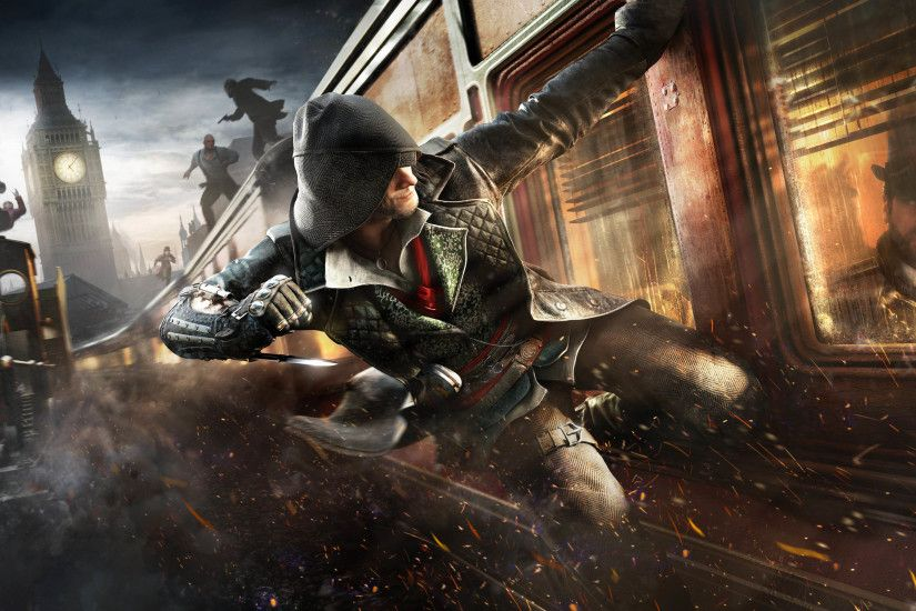 Big Ben & Train Action Scene - Assassin's Creed Syndicate 2880x1800  wallpaper