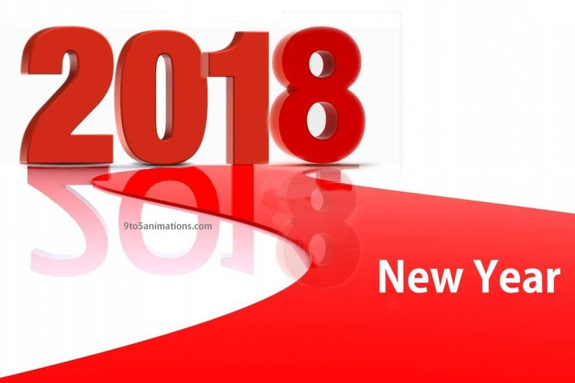 Red and White 2018 Happy New Year