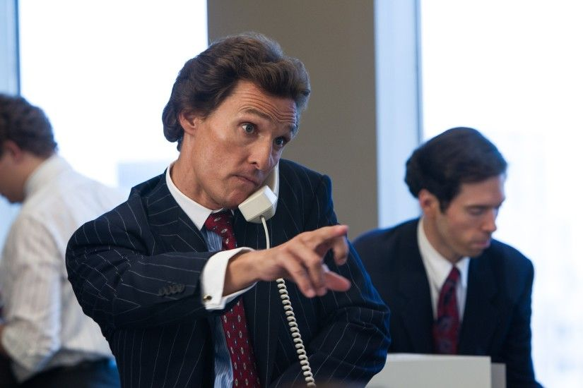 Movie - The Wolf of Wall Street Mark Hanna Matthew McConaughey Wallpaper