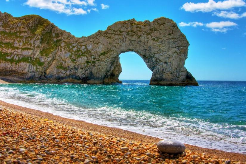 Durdle Door Landscape 4K Wallpaper