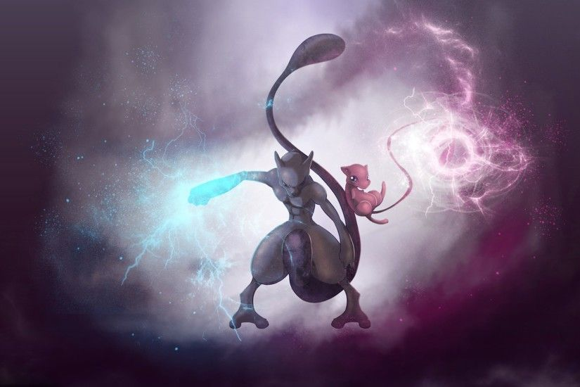 wallpaper pokemon · Mewtwo · Mew