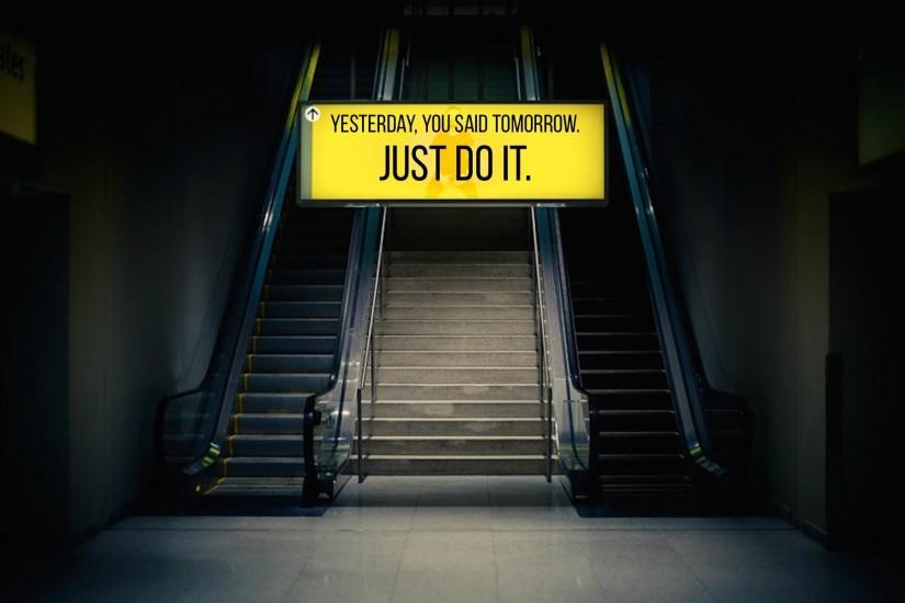 Just Do It Motivational Wallpaper