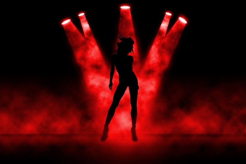 abstract art girl stripper light red wallpaper