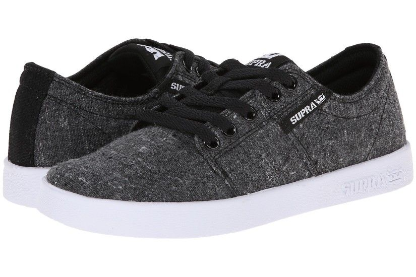 Charcoal Speckle/Black/White Supra Stacks II Shoes For sale,kids supra shoes