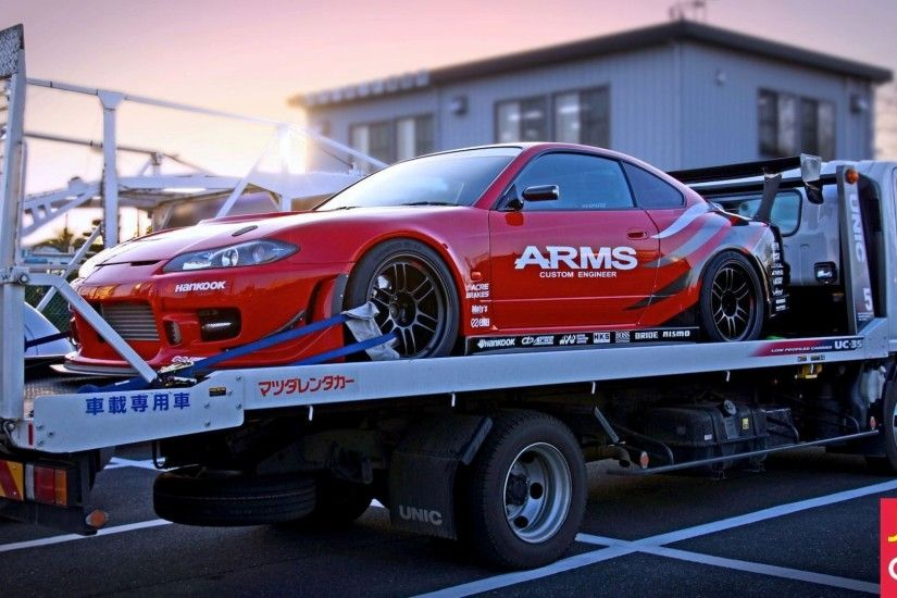 Car Nissan Silvia S15 in the tow truck