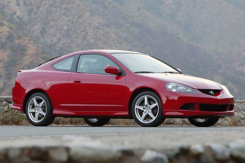 Wallpaper Acura, Rsx, Red, Side view, Style, Cars, Mountains, Nature,  Asphalt HD, Picture, Image