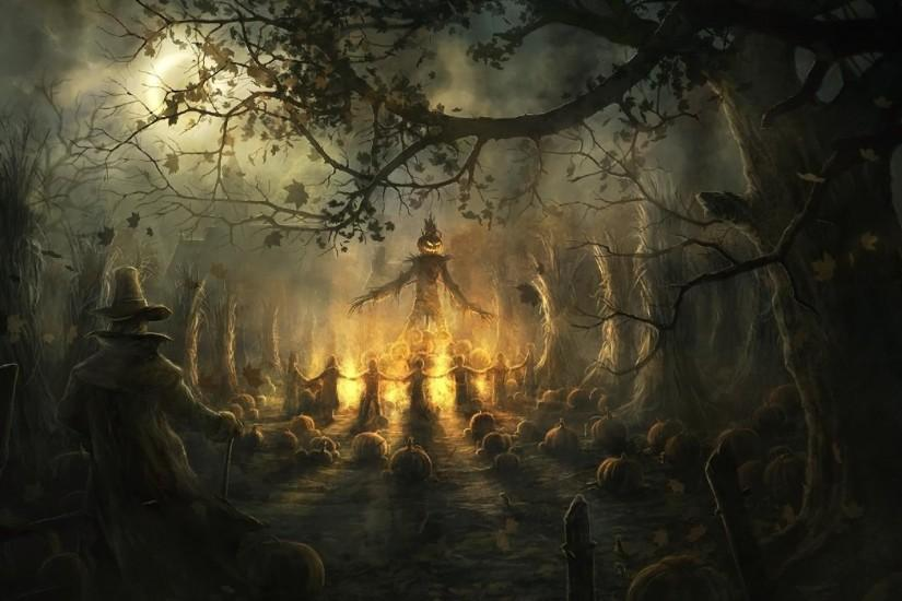 Holiday - Halloween Scarecrow Occult Ireland Dark Holiday Wallpaper