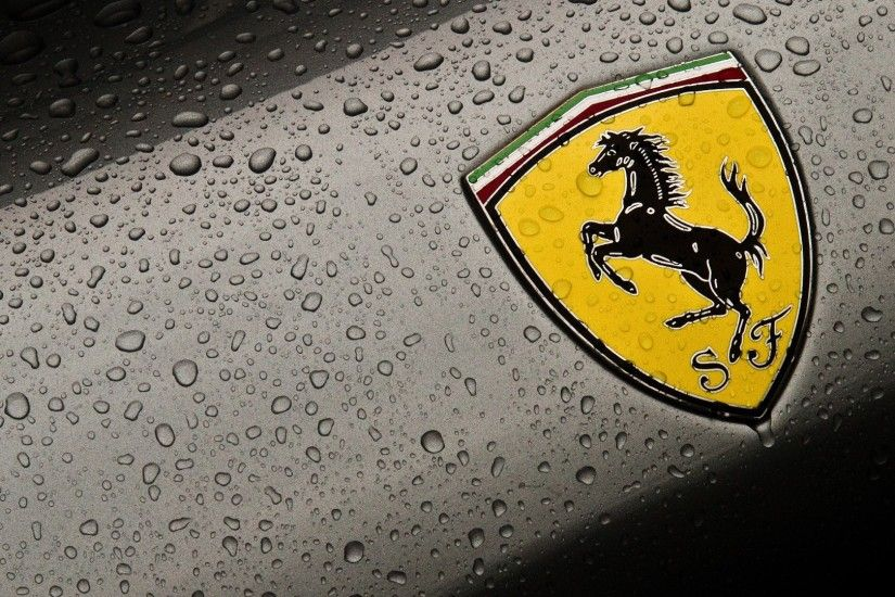 Ferrari Logo Black Car Wallpaper Hd