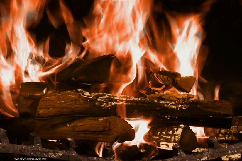 Fireplace Screen Savers Part - 49: Amazing Free Fireplace Screensaver  Wallpaper Of Awesome Full Screen
