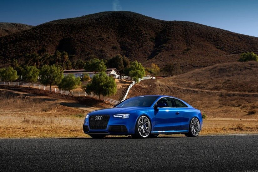 3840x2160 Wallpaper audi, rs5, blue, side view