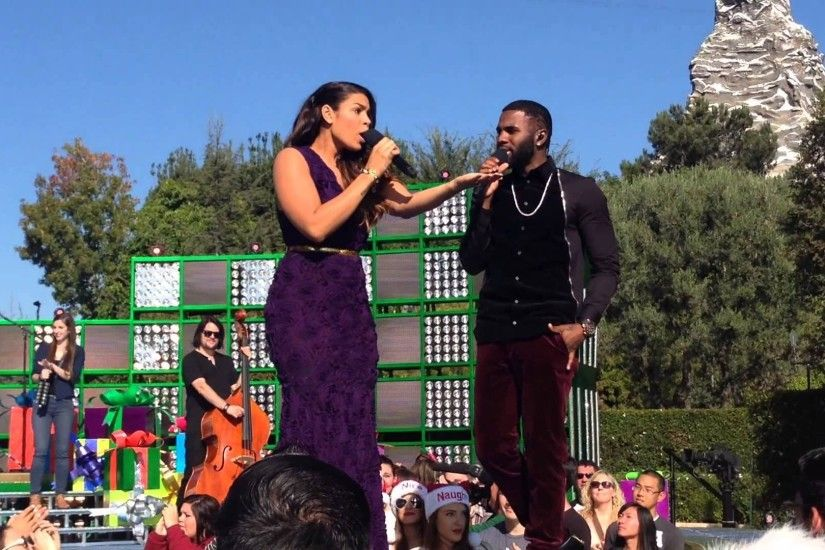 Jordin Sparks, Jason Derulo perform at Disney Parks Christmas Day Parade