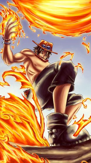 ... Portgas D Ace - One Piece Anime mobile wallpaper
