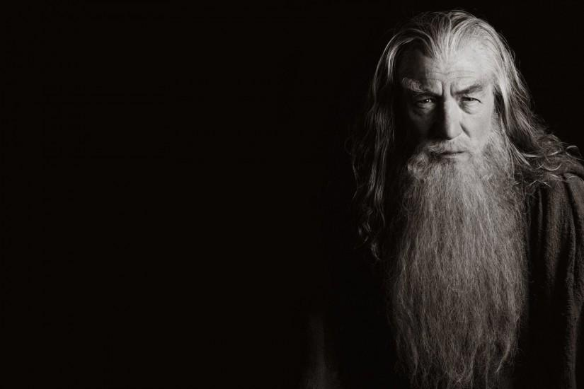 Black Background Gandalf Ian Mckellen Minimalistic The Lord Of Rings  Wallpaper ...