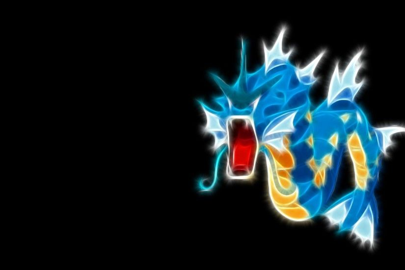 pokemon gyarados black background 1440x900 wallpaper Art HD Wallpaper