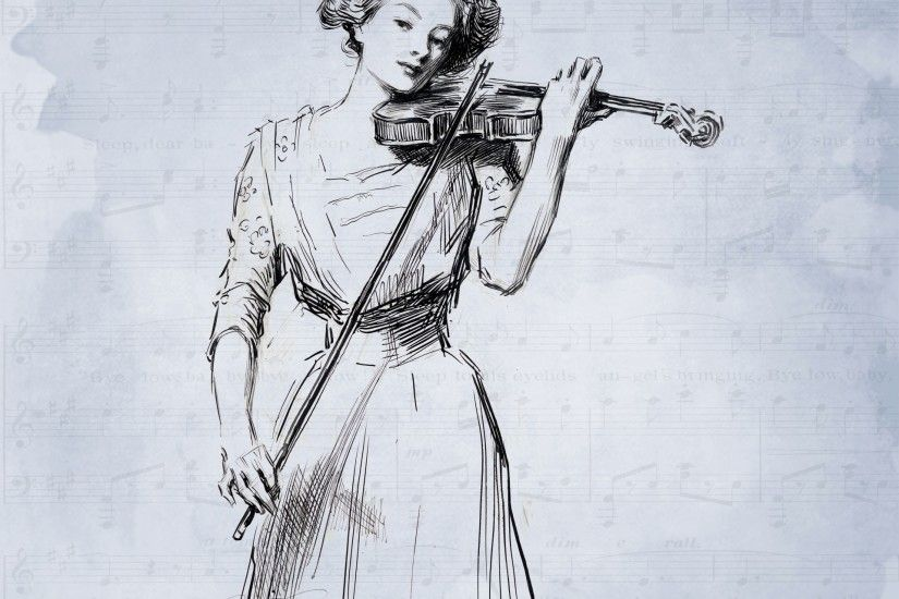 Violin Lady Music Background