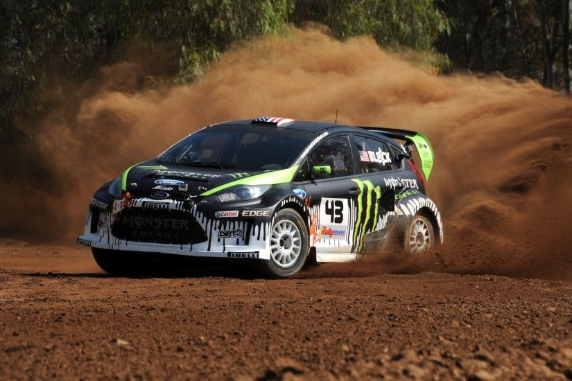 car, Ford Fiesta, Ken Block, Monster Energy Wallpaper HD
