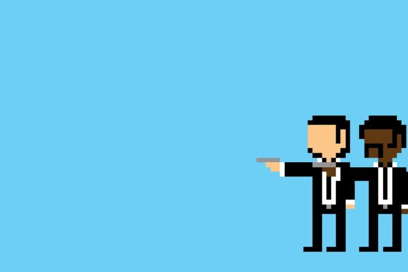 Preview wallpaper pulp pixel, people, minimalism, pulp fiction 2048x1152