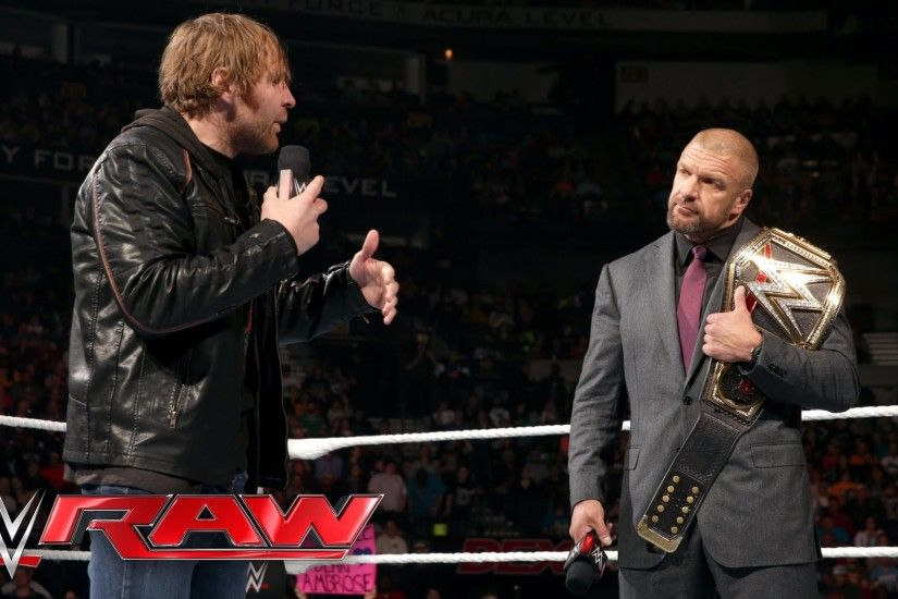 Dean Ambrose interrupts Triple H with a bold challenge: Raw, February 29,  2016 - YouTube