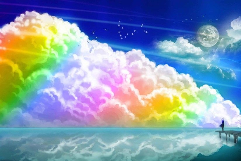 Landscapes Clouds Rainbow Wallpapers Of Nature For Laptop