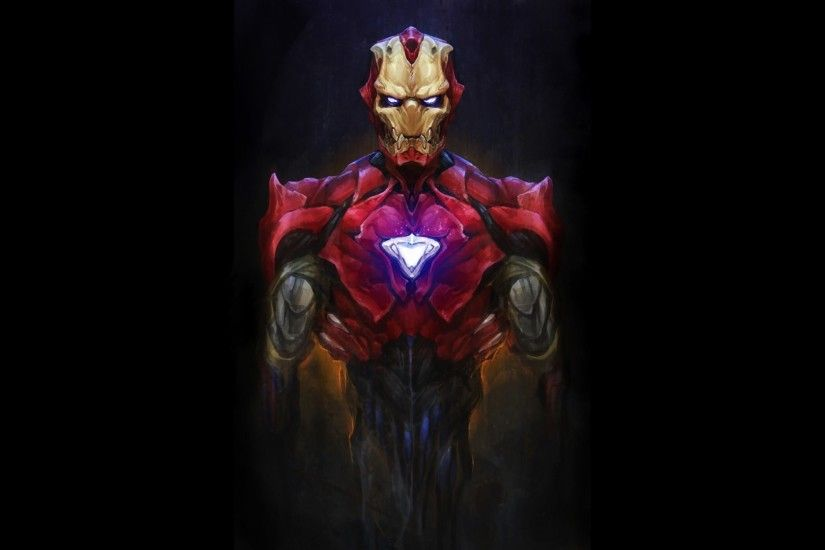 Android Artwork Bionic Dark Evil Iron Man Marvel Comics Monsters Robots Suit