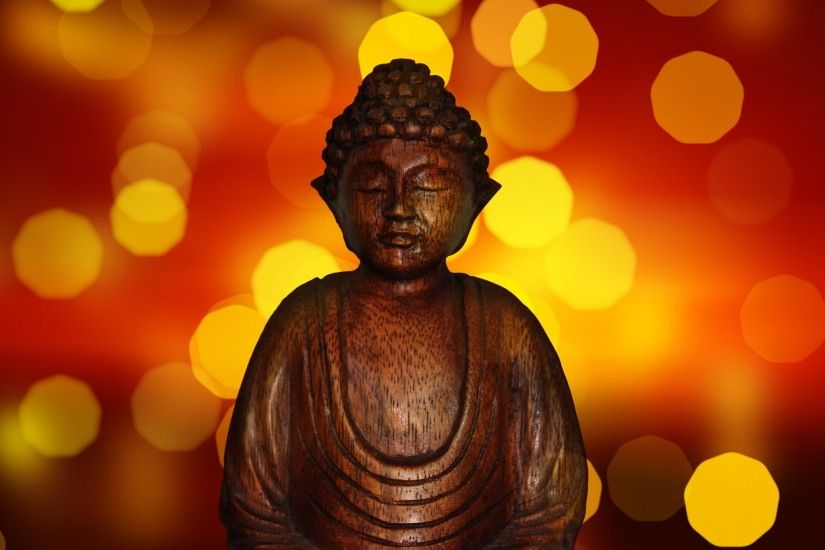 Preview wallpaper buddha, buddhism, statue, glare 2048x2048