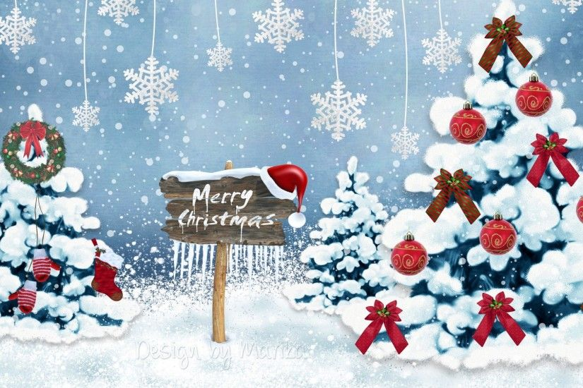 Preview wallpaper new year, christmas, card, christmas trees, snowflakes,  ornaments 1920x1080