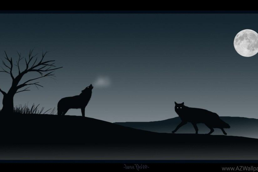 Howling Wolf Wallpapers Vector Wallpapers