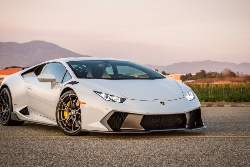 Preview wallpaper lamborghini, huracan, side view 1920x1080