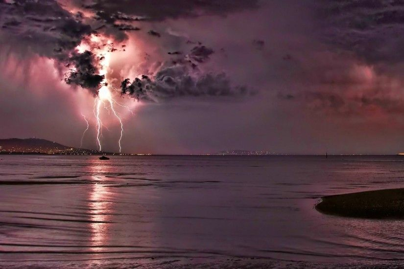 ... lightning storm rain clouds sky nature thunderstorm wallpaper ...