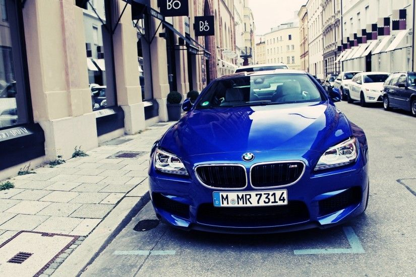 bmw m6 blue front hd. Â«Â«
