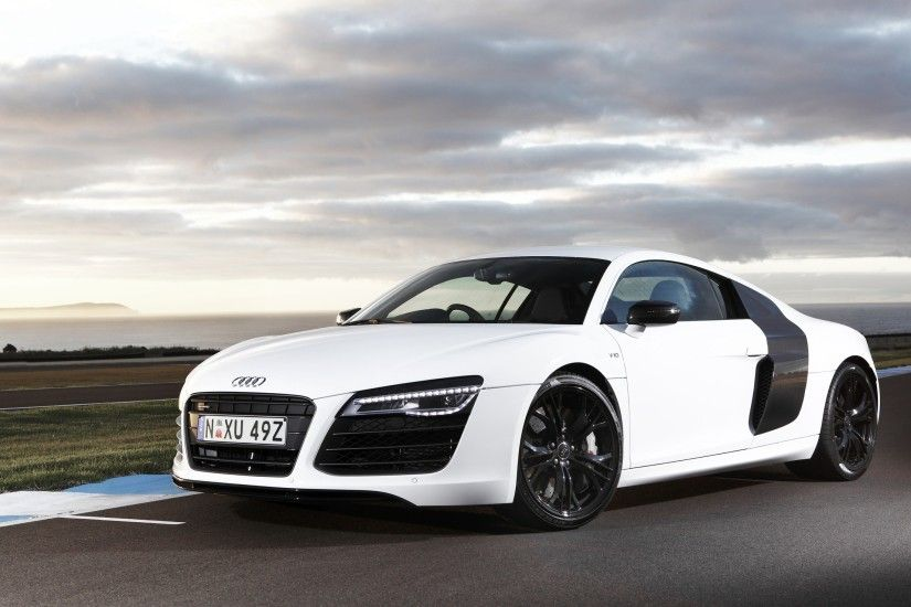 white audi r8 wallpapers hd - http://69hdwallpapers.com/white-