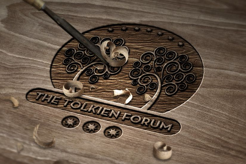 ... The Tolkien Forum Logo v3.0 - Carved Wood by dapence