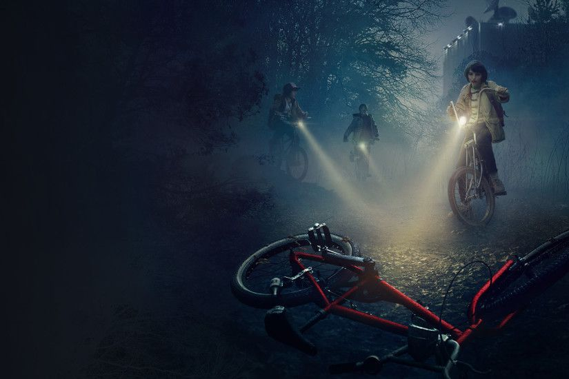 stranger_things_hawkins_national_lab. Stranger Things Bikes with no logo  desktop wallpaper: stranger_things_bikes