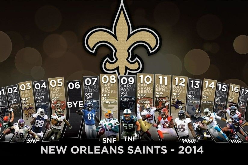 2014 Superdome Schedule Widescreen Wallpapers - New Orleans Saints .