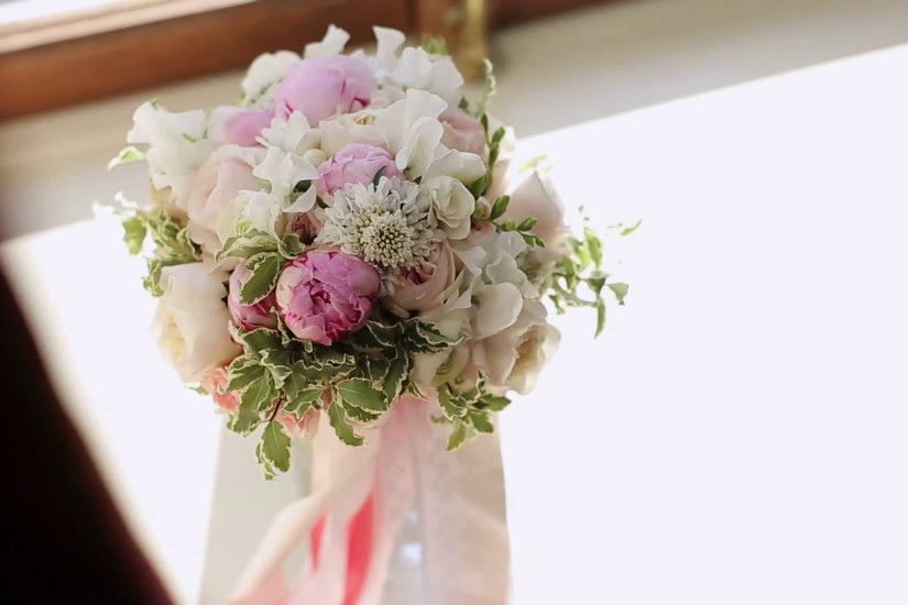 Wedding flowers bouquet on white background Stock Video Footage -  VideoBlocks