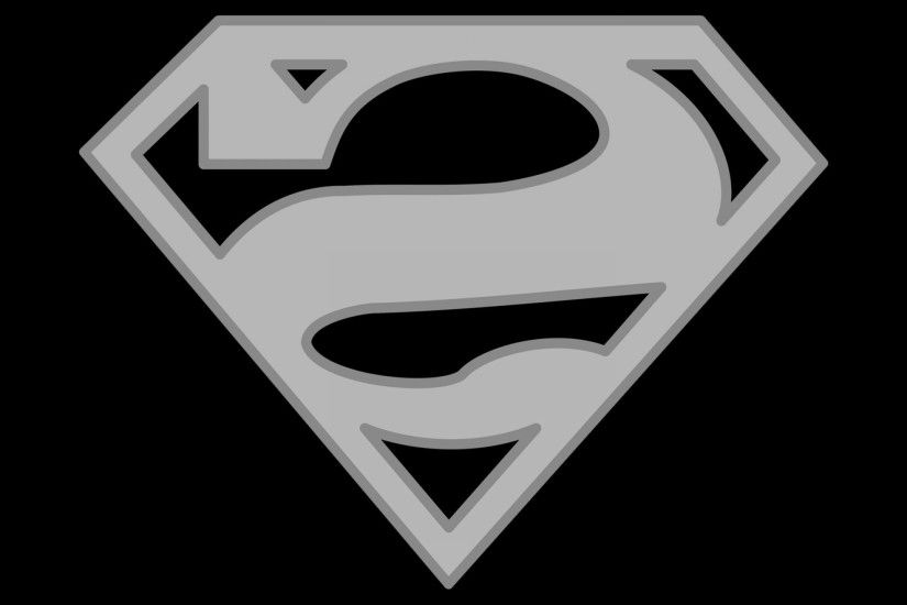 Superman Logo Vector Art: Superman Logo Black And White Background Wallpaper