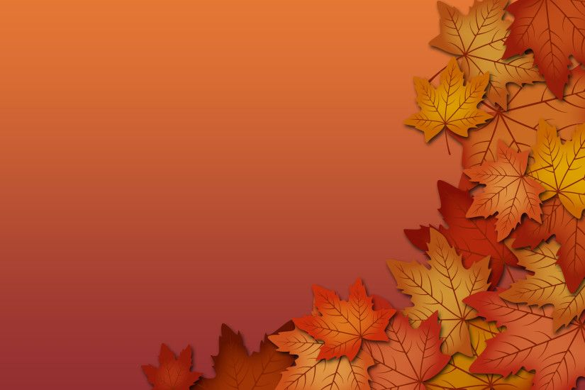 Desktop Fall Leaves Border Wallpapers