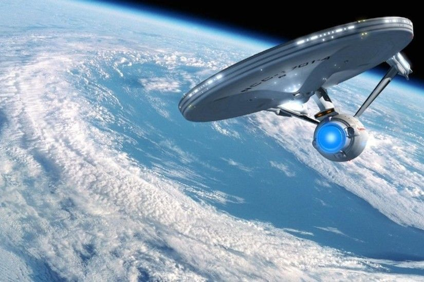 Star trek enterprise earth orbit space planets wallpaper | 1920x1080 |  121960 | WallpaperUP