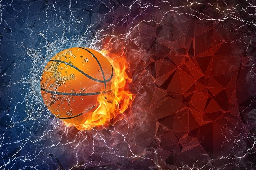 Cool Basketball Wallpapers HD 9. Basketball ball in fire and water