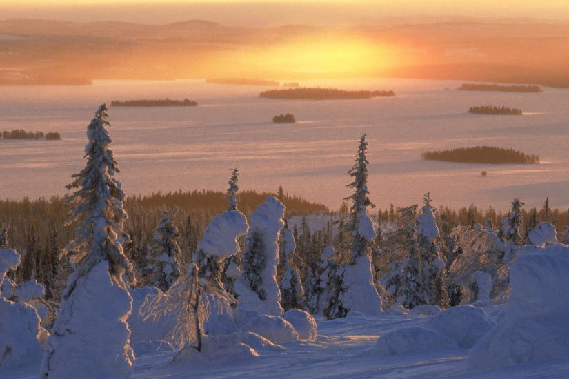 Riisitunturi National Park Lapland Finland Wallpaper